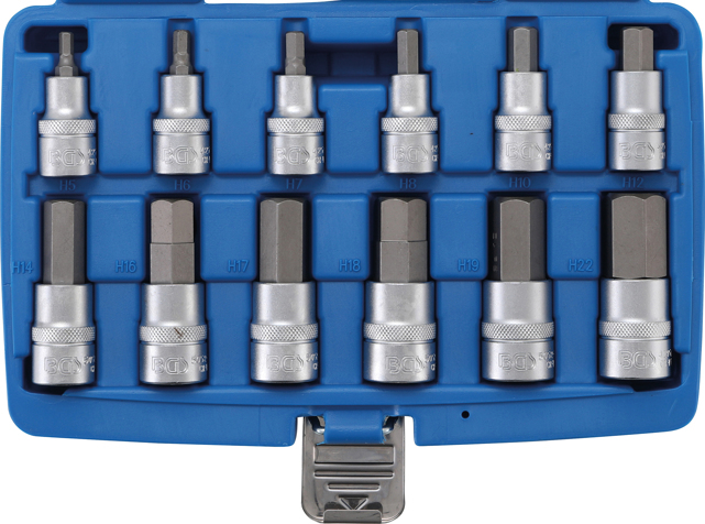 "Hlavice zástrčné s bitem imbus 1/2"" 5-22mm (12ks)- BGS 5052"