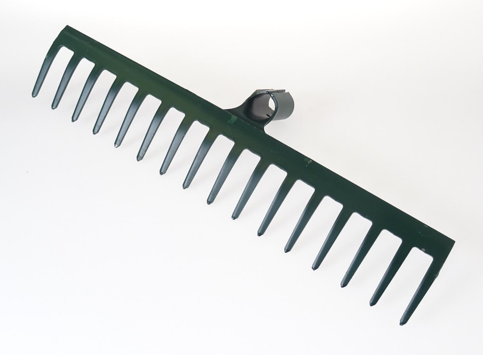 Hrábě zahradní kovové 460 mm, 16 zubů, bez násady