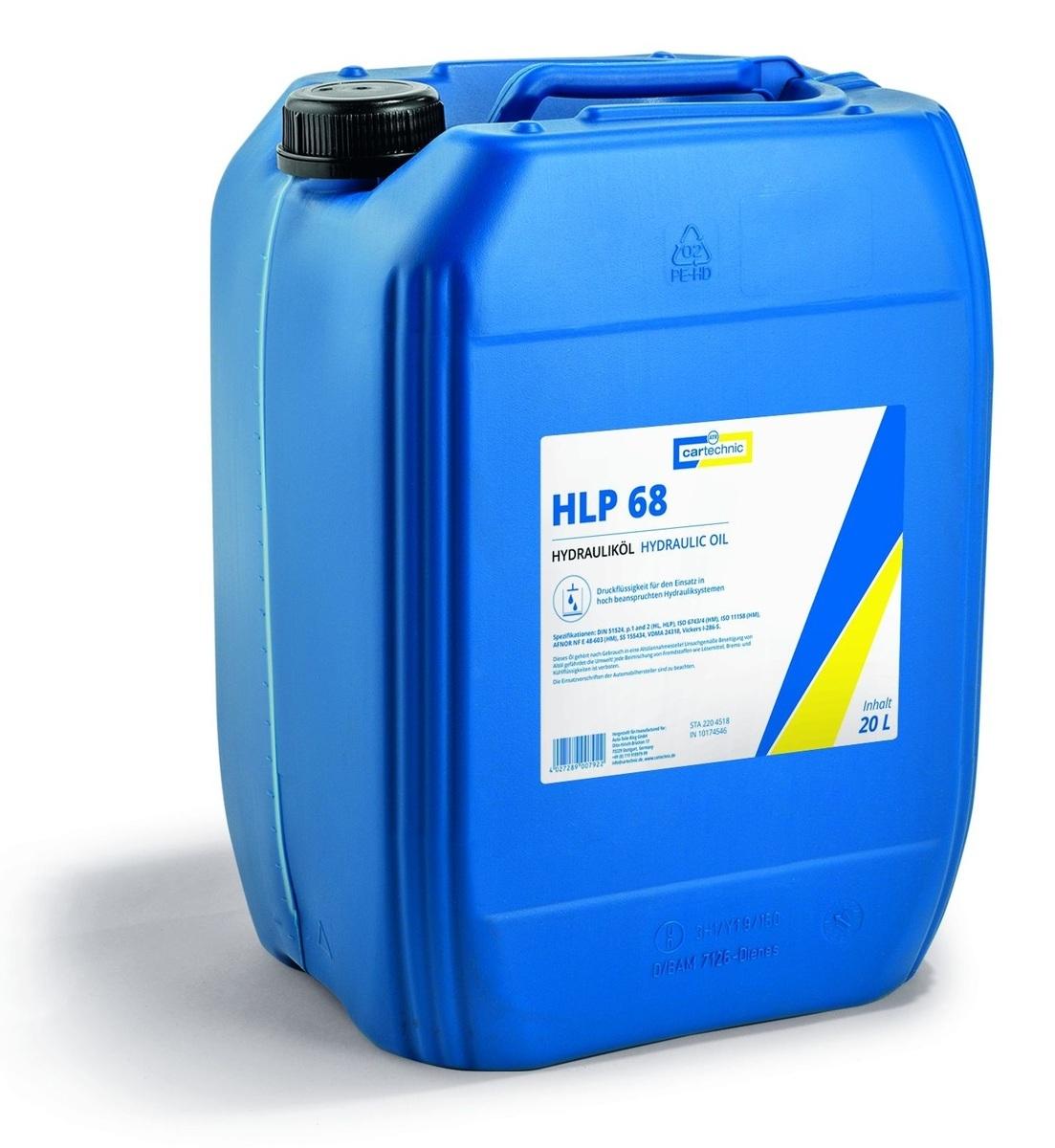 Hydraulický olej HLP 68, 20 litrů - Cartechnic
