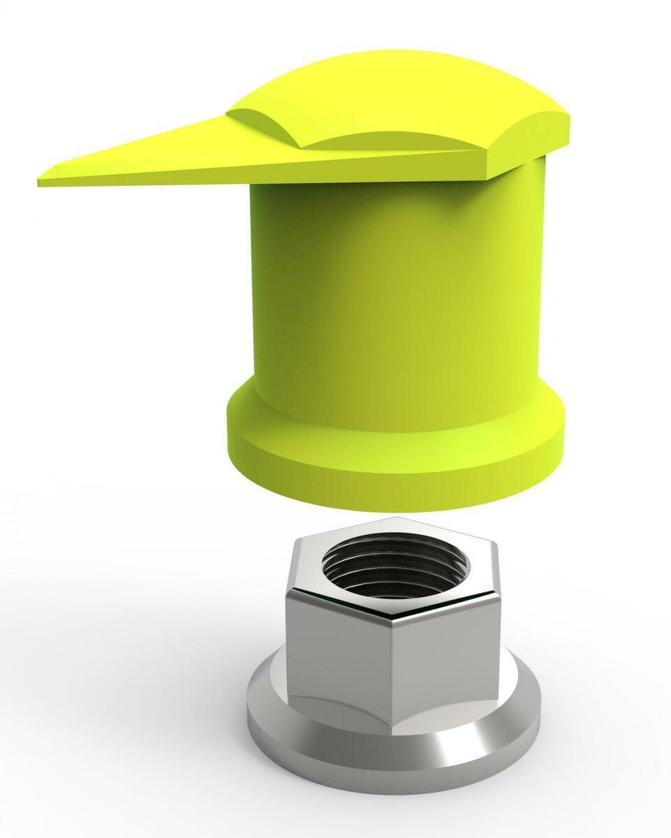 Indikátor povolení matic 32 mm horní, pro nákladní auta a autobusy, plast - Dustite LR