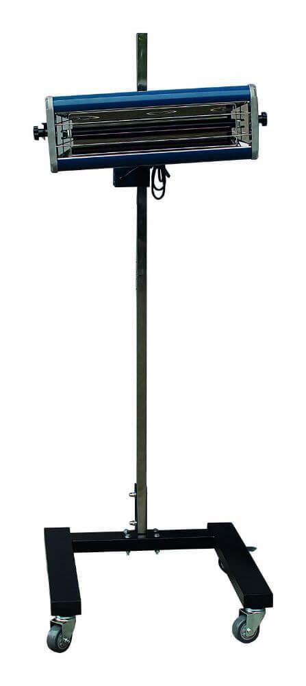 Infrazářič pro sušení laků 1000 W, 1 lampa, pojízdný - SATRA