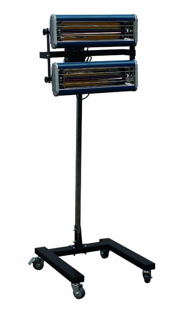 Infrazářič pro sušení laků 2000 W, 2 lampy, pojízdný - SATRA