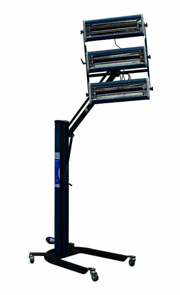 Infrazářič pro sušení laků 3000 W, 3 lampy, pojízdný - SATRA