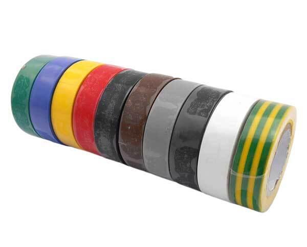 Izolační pásky elektrikářské 15 mm x 10 m, různé barvy, 10 ks