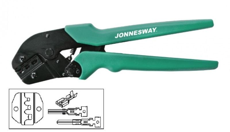 Kleště na krimpování neizolovaných elektrických konektorů 0.5-6 mm - JONNESWAY V1311B