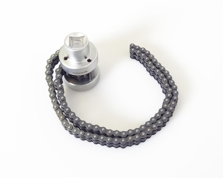 """Klíč na olejové filtry s dvojitým řetězem 1/2"""", rozsah 60 - 115 mm - QUATROS QS60602"""