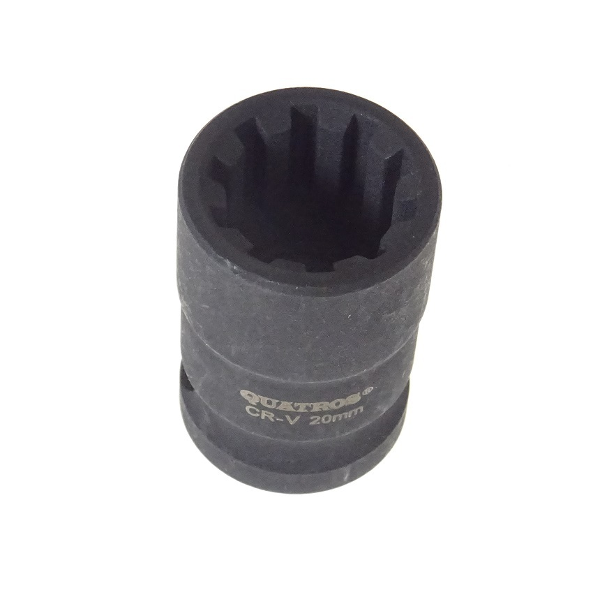 "Klíč - nástrčná hlavice 1/2"" 20 mm, 10hranná, na brzdy AUDI, PORSCHE - QUATROS QS70020"