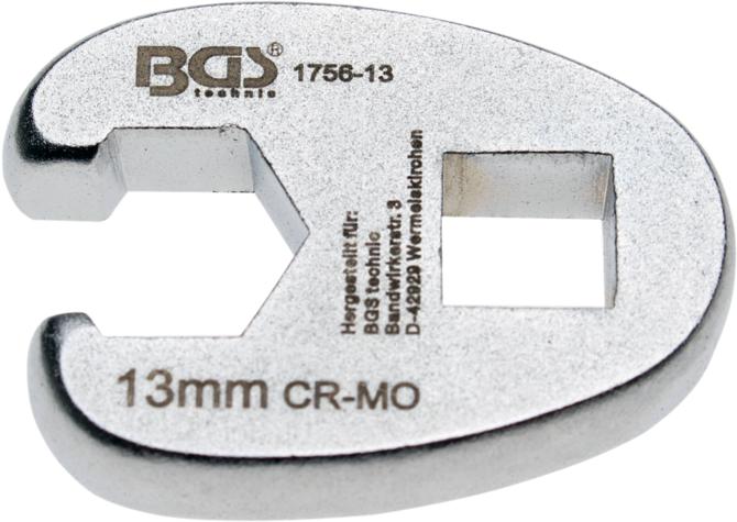 "Klíč plochý otevřený 3/8"", 13 mm - BGS 1756-13"