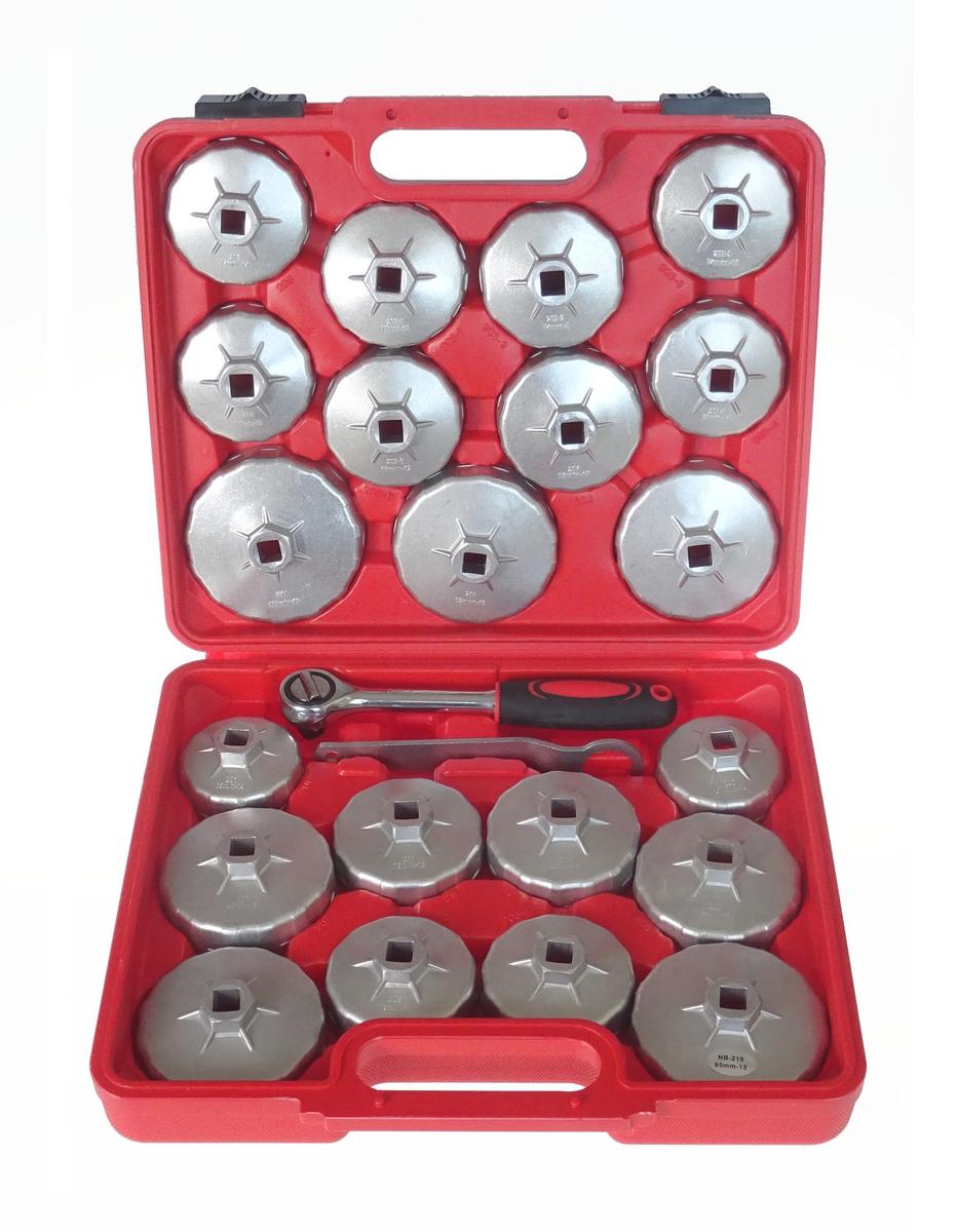 Klíče na olejové filtry, sada 23 kusů - QUATROS QS64111