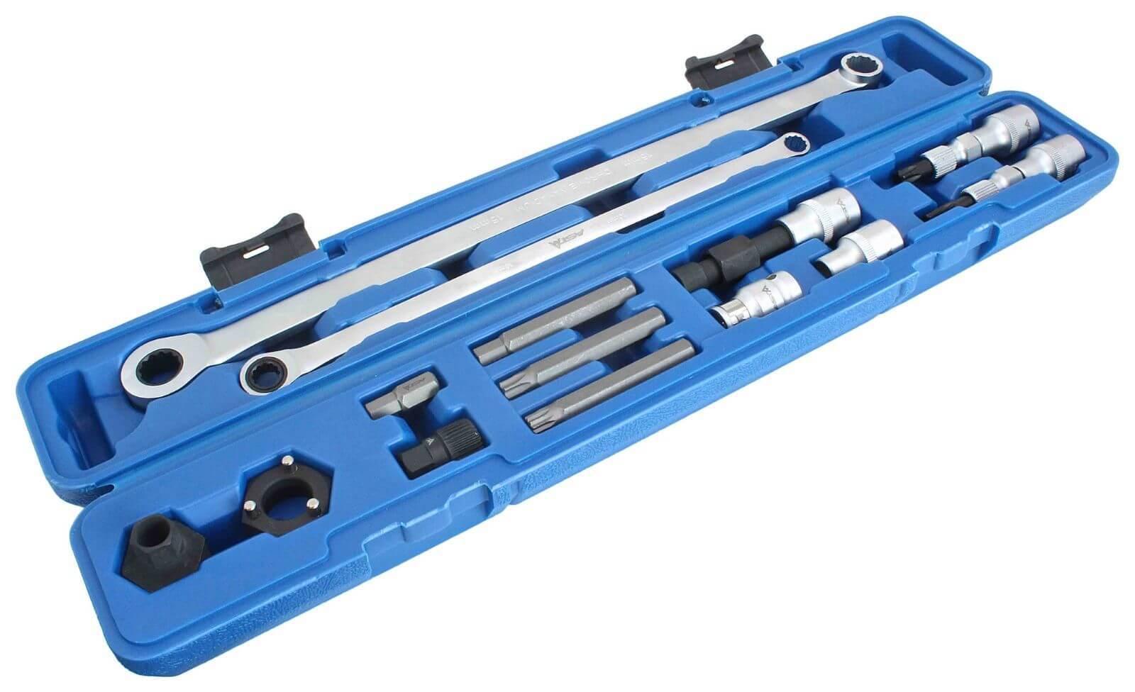 Klíče na montáž a demontáž alternátorů, sada 14 ks