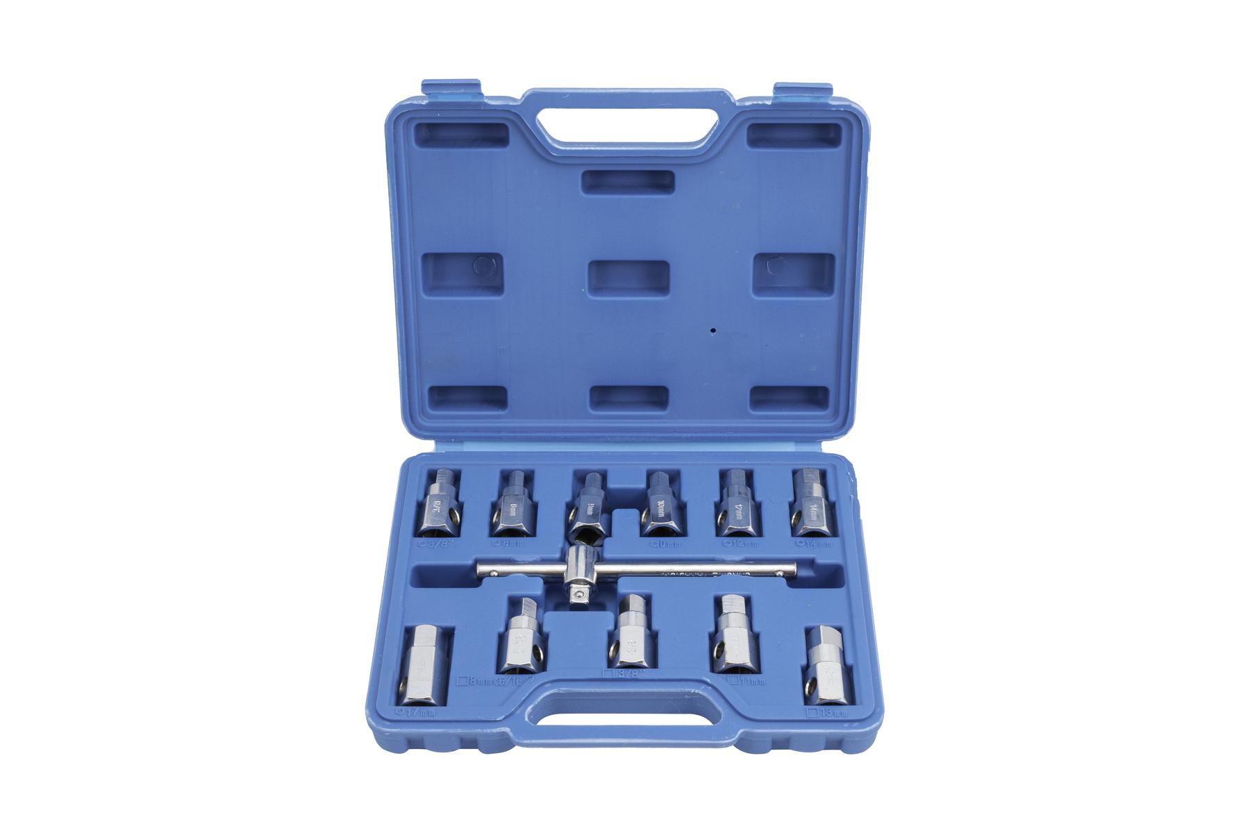 Klíče na šrouby olejových van, sada 12 kusů - QUATROS QS60500