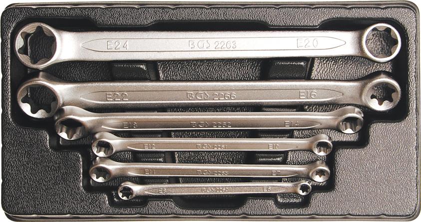 Klíče očkové pro E-profil E6-E24 - BGS 2268
