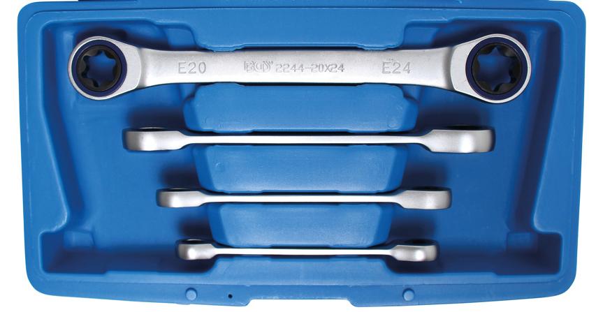 Klíče očkové ráčnové pro E-profil E6-E24 - BGS 2244