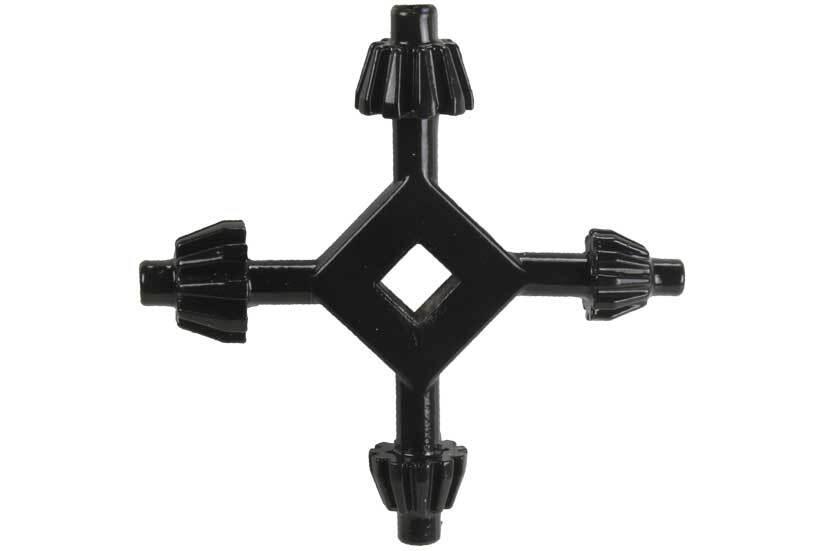 Klíčka pro sklíčidlo vrtačky, univerzální, 4 v 1, 13 - 17 mm