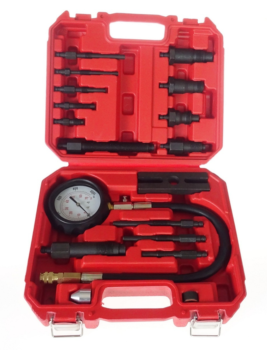 Kompresiometr - tester komprese diesel, 16 dílů