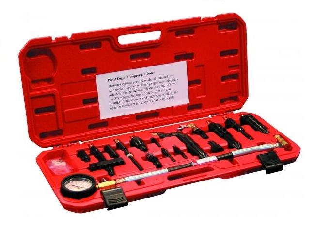 Kompresiometr - tester komprese diesel, pro větší vozidla - ASTA