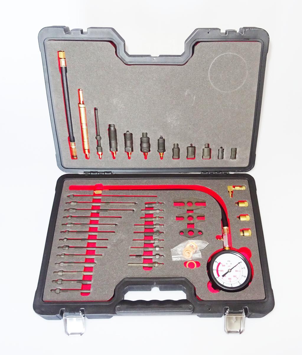 Kompresiometr - tester komprese pro benzínové i dieselové motory - QUATROS QS30101