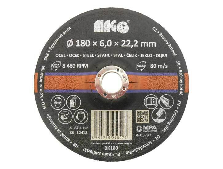 Kotouč brusný na kov 180 x 6 x 22,2 mm - MAGG BK180