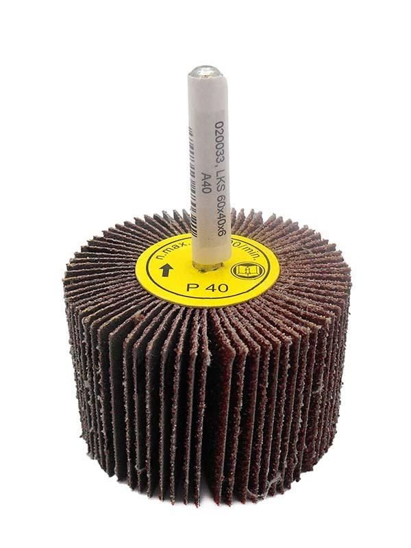 Kotouč brusný lamelový P100, 60x40 mm, na stopce 6 mm