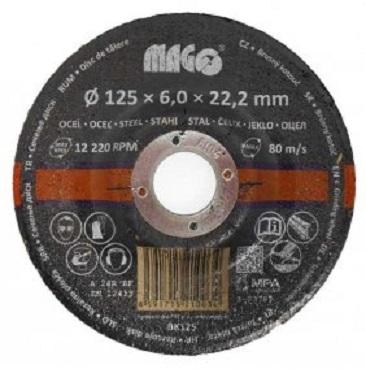 Kotouč brusný na kov 125 x 6 x 22,2 mm - MAGG BK125