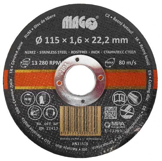 Kotouč řezný na nerez 115 x 1,6 x 22,2 mm MAGG