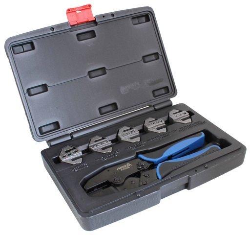 Kleště na krimpování elektrických konektorů 0.5 - 16 mm, 5 výměnných matric - ASTA