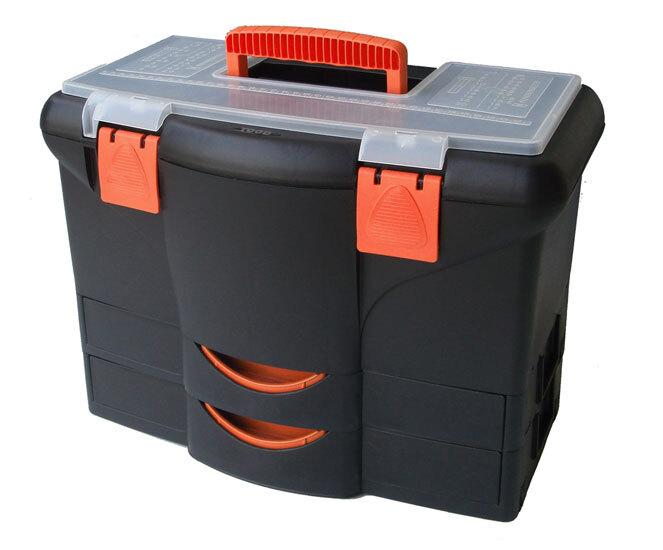 Kufr - basa na nářadí 450 x 360 x 260 mm, 2 zásuvky, plast