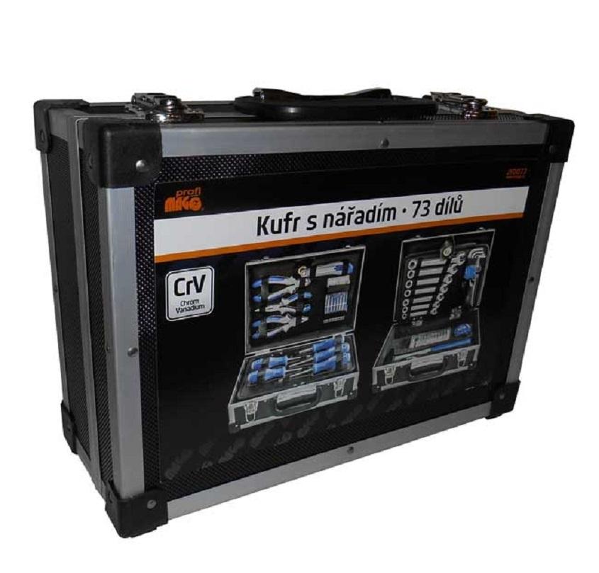 Kufr s nářadím - kladivo, šroubováky, klíče, kleště a další, 73 dílů - MAGG JY0073