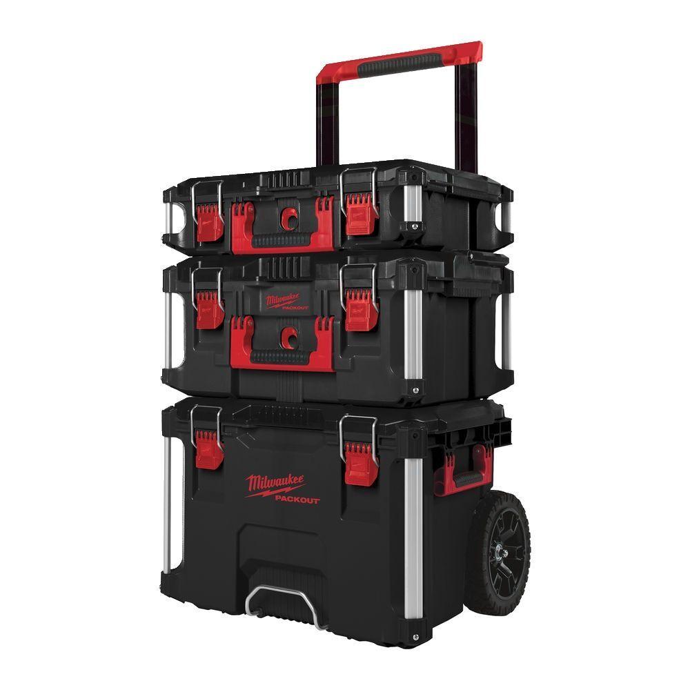 Kufry-boxy na nářadí pojízdné Packout, sada 3 ks - Milwaukee 4932464244