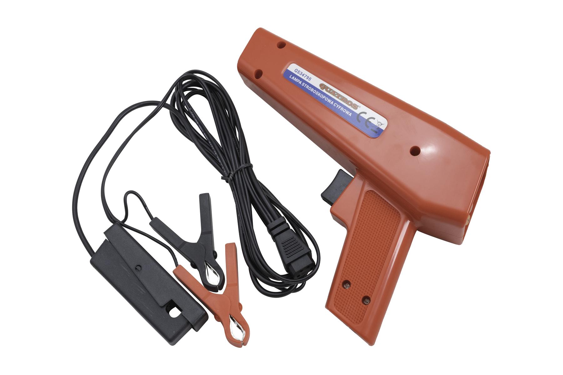 Lampa stroboskopická pro seřízení zapalování motoru, s displejem - QUATROS QS34795