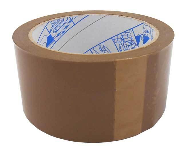 Lepící páska 50 mm x 66 m, univerzální, hnědá