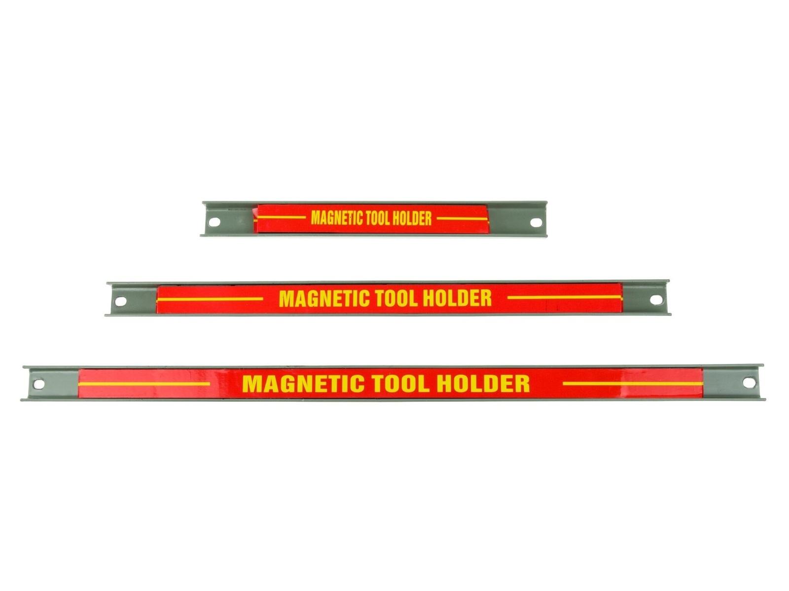 Magnetické lišty - držáky na nářadí, délky 23, 37, 48 cm, sada 3 kusy