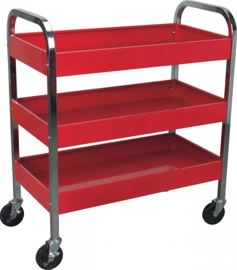Dílenský montážní vozík - pojízdný manipulační stolek, 3 patra