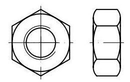 Matice 6hranné DIN 934 Zn, rozměr M12x1,75 mm, výška 10 mm, balení 10 kusů