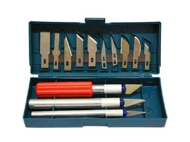Modelářské skalpely - nože, sada 13 kusů