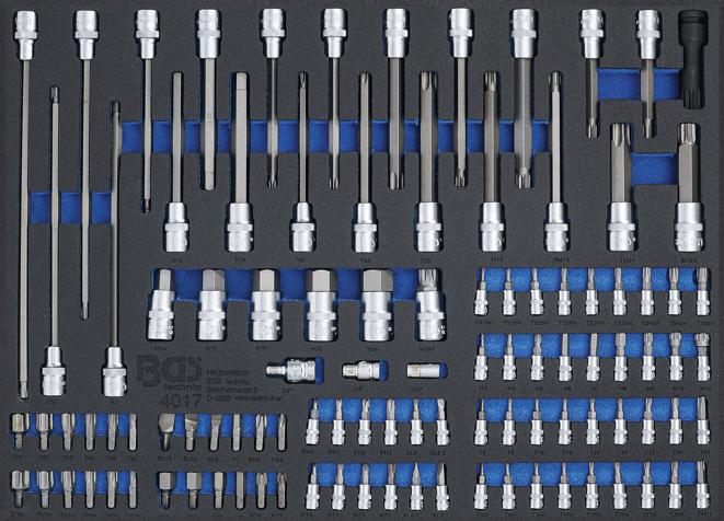 Modul - hlavice TORX, imbus, XZN, RIBE 101ks - BGS