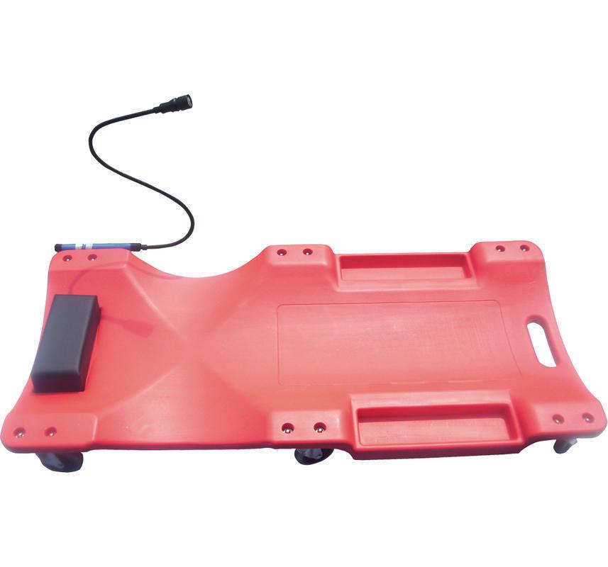 Montážní lehátko plastové BSP3, nosnost 160 kg, s LED světlem