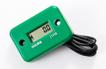 Motohodiny - měřič motohodin, zelený