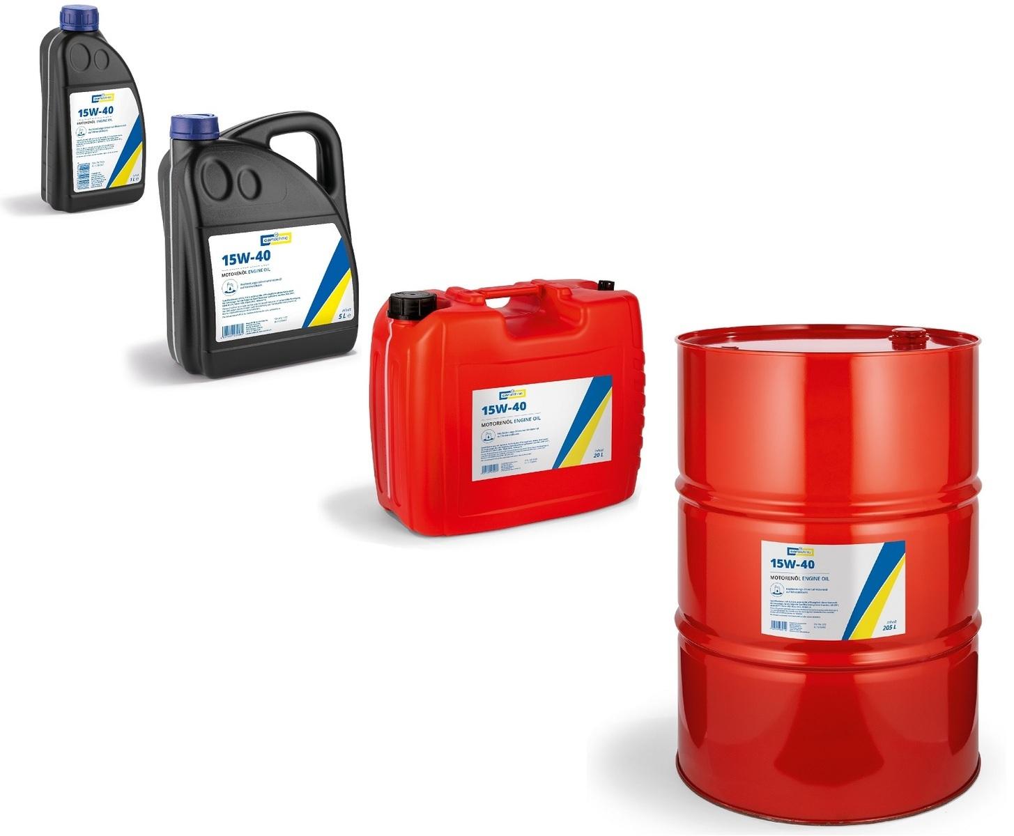 Motorový olej 15W-40, různé objemy - Cartechnic