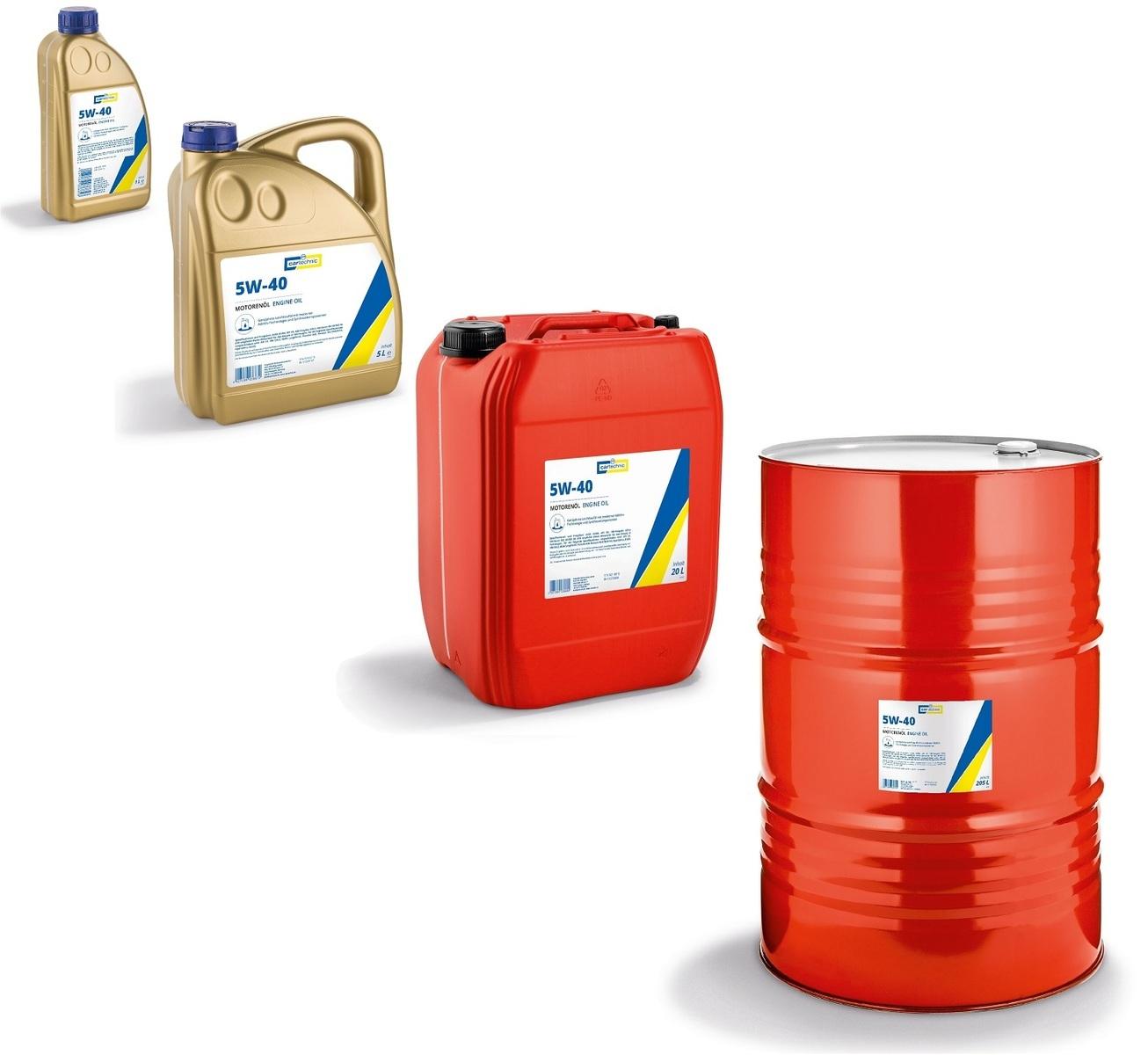 Motorový olej 5W-40, různé objemy - Cartechnic
