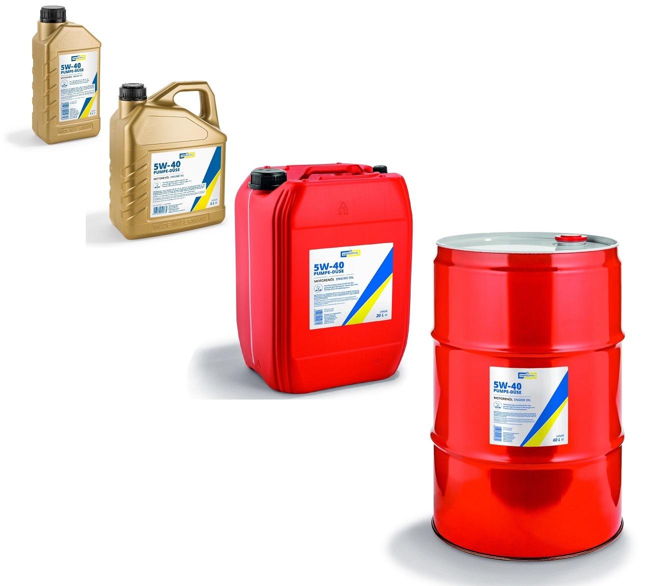 Motorový olej 5W-40 Pumpe-Düse, různé objemy - Cartechnic