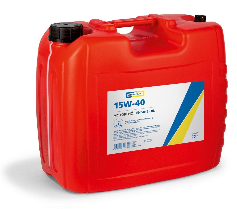 Motorový olej 15W-40, 20 litrů - Cartechnic
