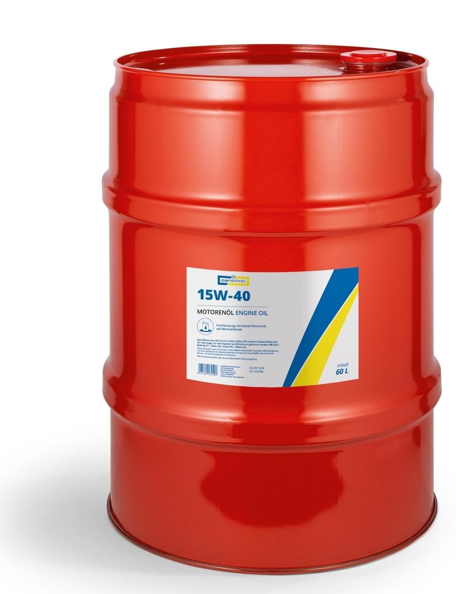 Motorový olej 15W-40, 60 litrů - Cartechnic