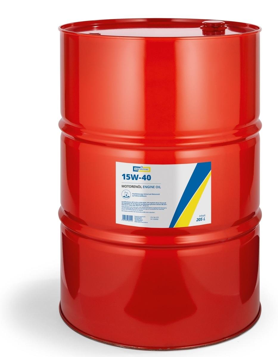 Motorový olej 15W-40, 205 litrů - Cartechnic