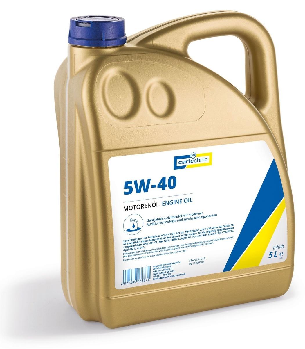 Motorový olej 5W-40, 5 litrů - Cartechnic