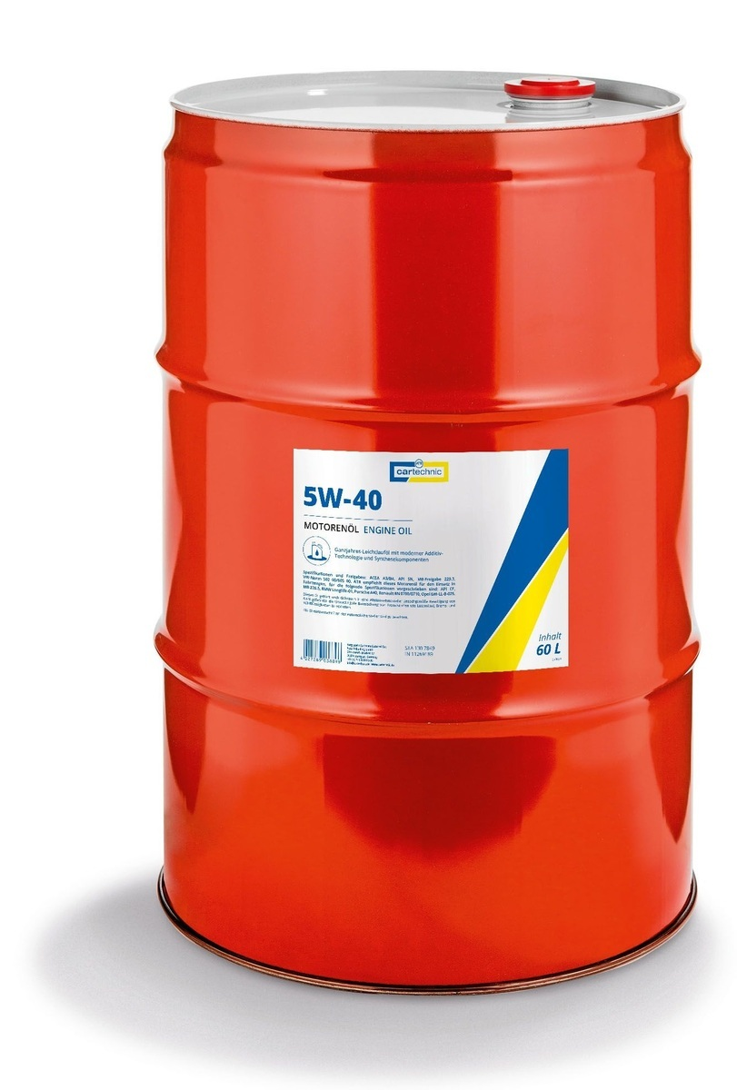 Motorový olej 5W-40, 60 litrů - Cartechnic