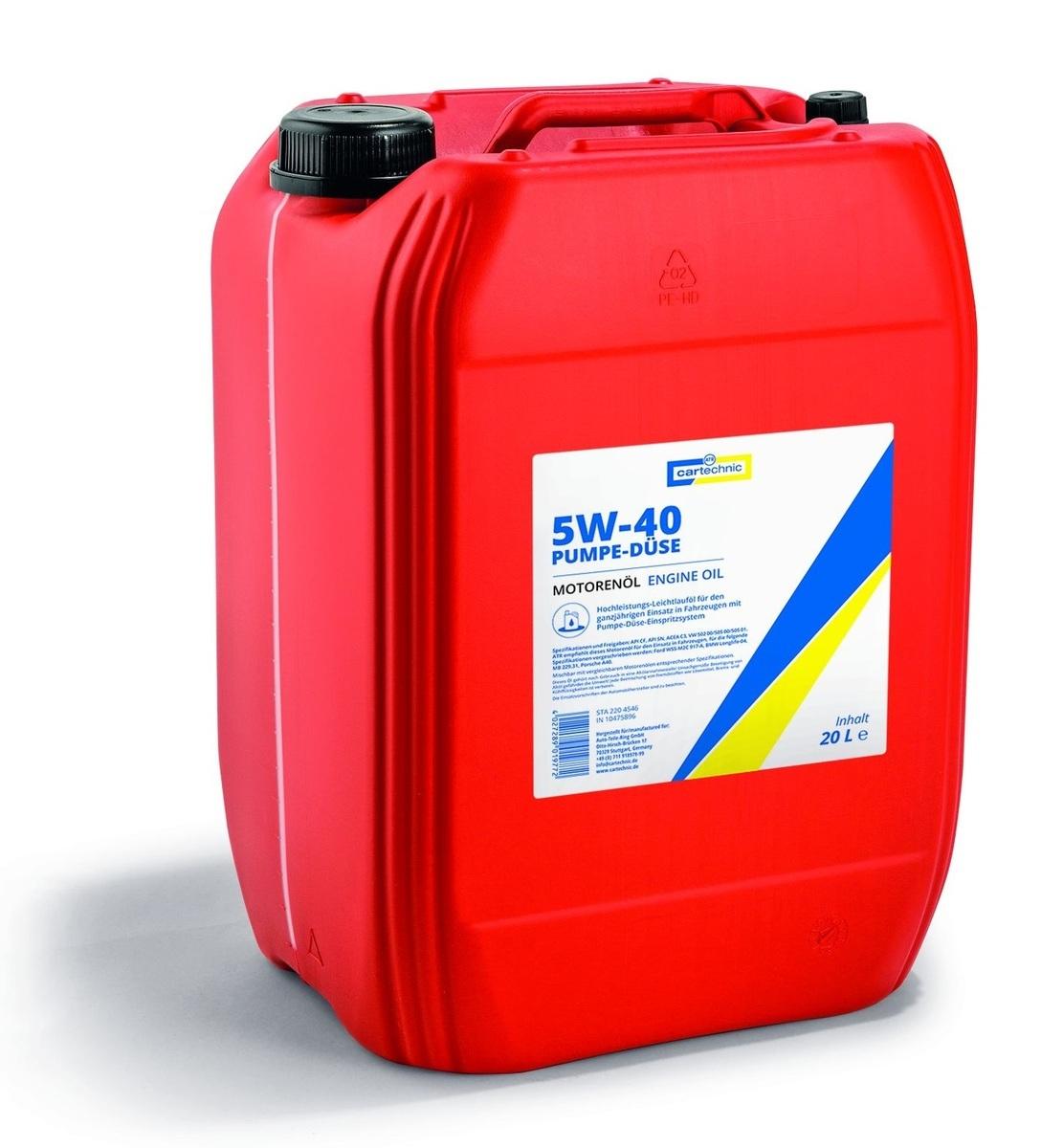 Motorový olej 5W-40 Pumpe-Düse, 20 litrů -  Cartechnic