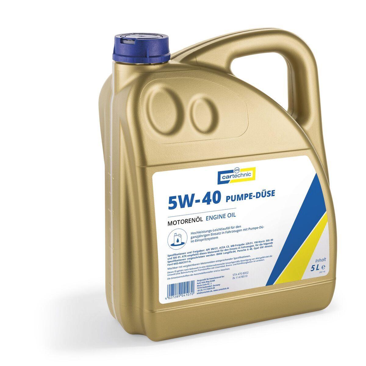 Motorový olej 5W-40 Pumpe-Düse, 5 litrů - Cartechnic