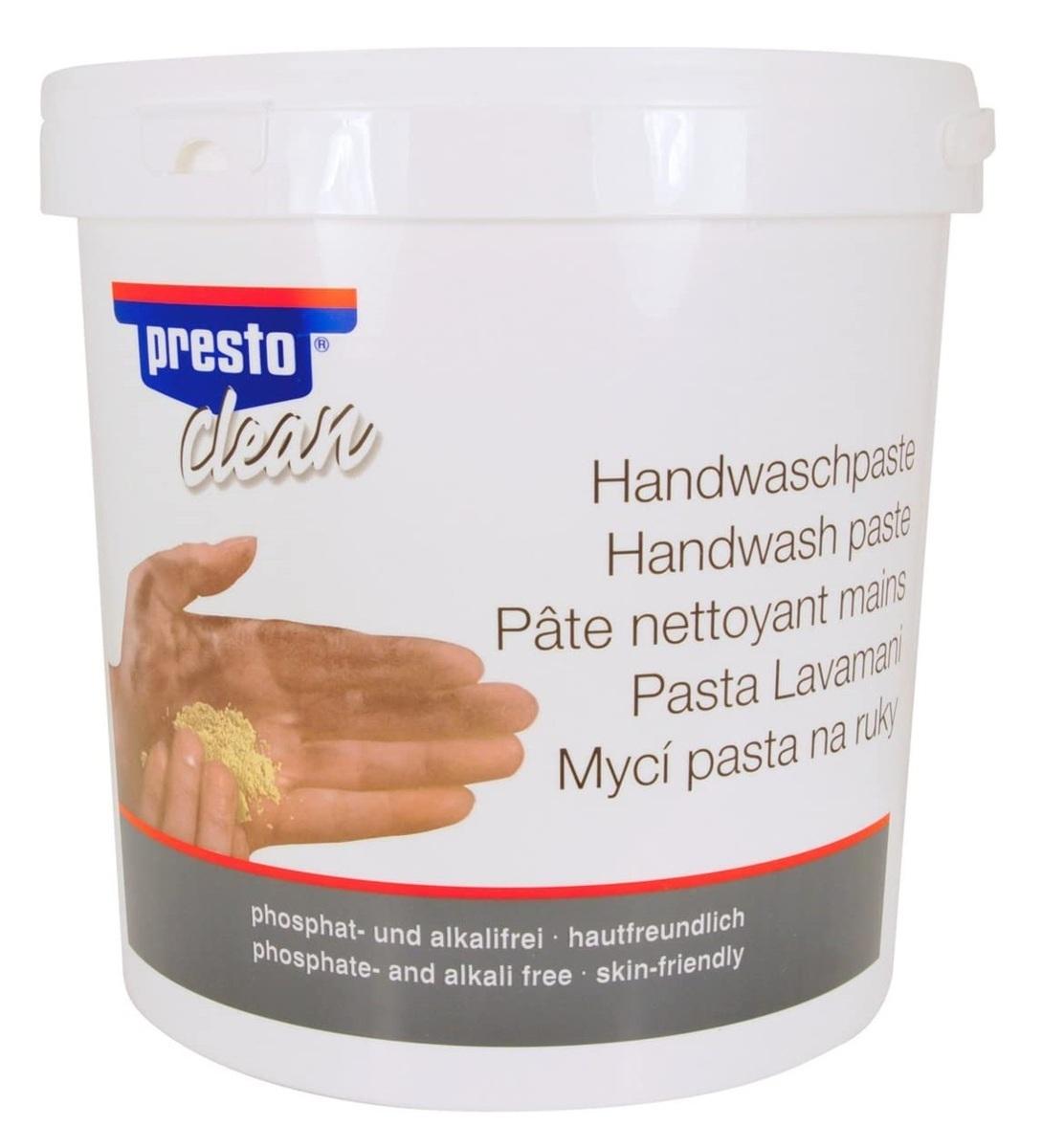 Mycí pasta na ruce, na bázi dřevní moučky, 10 l - Presto