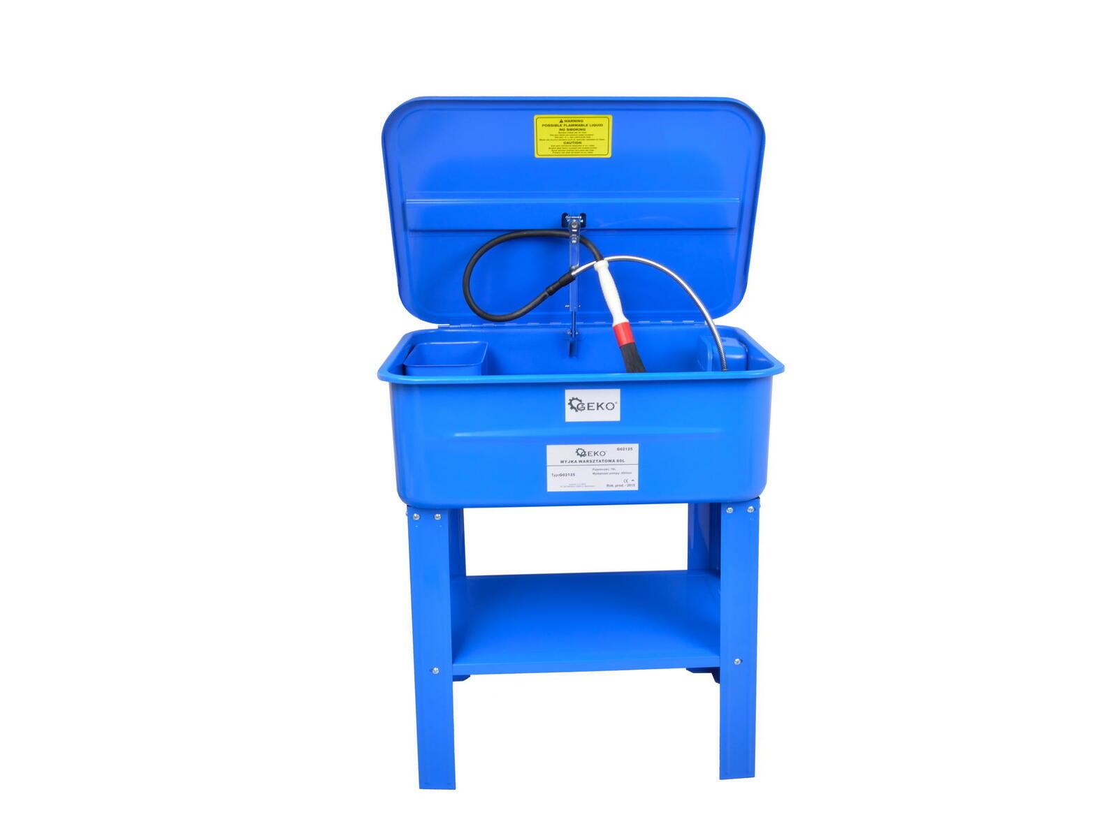 Mycí stůl pro čištění dílů s elektrickým čerpadlem a štetcem 80L